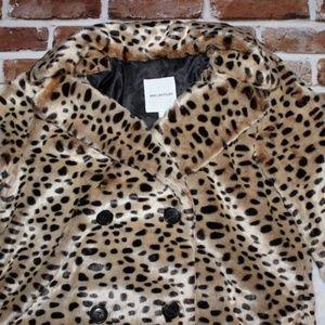 Avec Les Filles Jackets & Coats - 🎄NWT <Avec Les Filles> Faux Leopard Oversize Coat